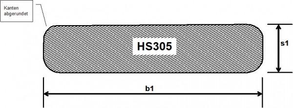 sib. Lärche u/s hbf., HS 305, geh. Latte mit 4 Rundungen R5