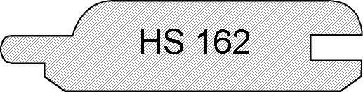 Lärche, HS 162 eins. Rundkantenpr./eins. Fasebrett