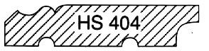 nord. Kiefer, HS 404 Fußleiste mit Kabelhohlkehle
